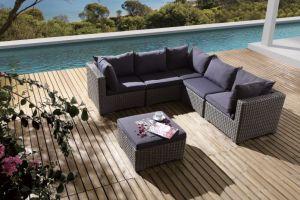 Patio Outdoor Garden Wicker Rattan Manhattan Sofa (J632) pictures & photos