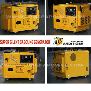 5000W/5.5kw/5.5kVA Portable Silent Manual Power Gasoline Generator pictures & photos