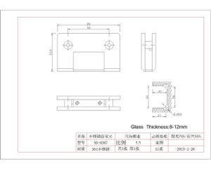 Stainless Steel Shower Door Hinge for Glass Door (SH-0307) pictures & photos