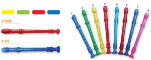 White Plastic Recorder for Students pictures & photos