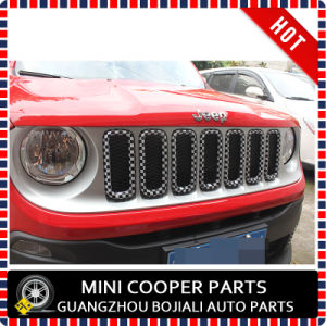 Auto Accessory ABS Material Checkered Style Front Grill&Fog Lamp Covers Covers for Renegade Model (7PCS/SET) pictures & photos