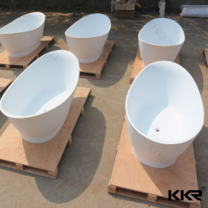for Adults Artificial Stone Modern Freestanding Indoor Bathtub pictures & photos