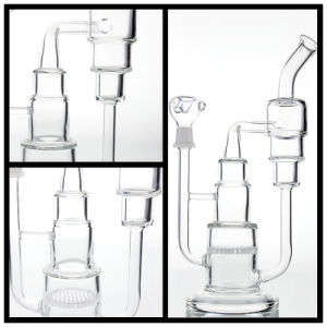 "12""Inch Glass Smoking Pipe Percolators with Several Layer   Blue Percolator   and Thick Base pictures & photos"