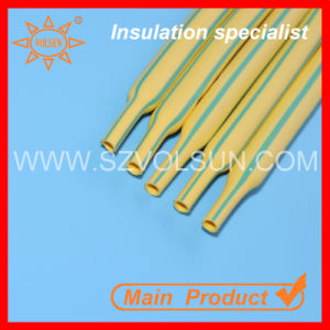 Yellow Green Stripped Heat Shrink Tubing for Special Cable pictures & photos