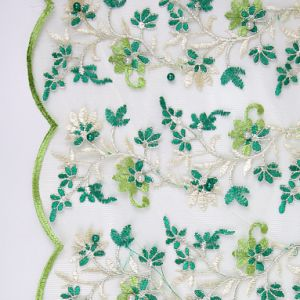 Nigeria Green Embroidery Lace Fabric for Party Dress pictures & photos