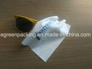OEM White Microfiber Glasses/Camera Lens Wipe Cloth pictures & photos