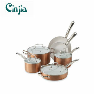 Nonstick Amazon Vendor Aluminum Ceramic 10 PCS Cookware Set pictures & photos