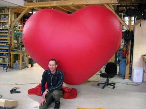 Red Iadvertising Balloon Inflatable Rinflatable Heart for Outdoor