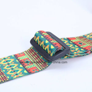 Fashion Jacquard PU Leather Webbing Belt for Guitar pictures & photos