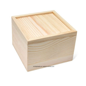 New Pine Wood Box with Sliding Top pictures & photos