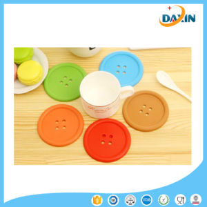Good Quality Buttons Shape Silicone Cup Mat Placemat pictures & photos