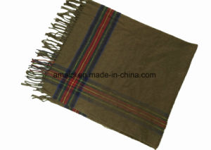 Acrylic Stripe Yarn Dyed Fashion Scarf for Ladies (ABF22004008) pictures & photos