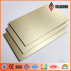 Ideabond 3-6mm Luxury Gold Color Aluminum Composite Panel pictures & photos