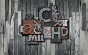 Cool Design English Letter Backgrond Design for Home Decoration Painting on Wall Panel pictures & photos