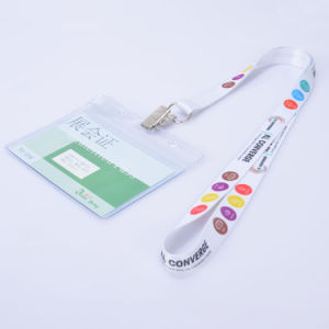 Trade Show Satin Ribbon Sublimation Polyester Lanyards for ID Badge