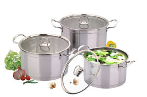 Stainless Steel 10PCS Cookware Set in Tempered Glass Lid pictures & photos