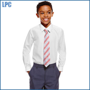 School Slim Fit Boys′ Long Sleeve Shirts with Stain Away pictures & photos