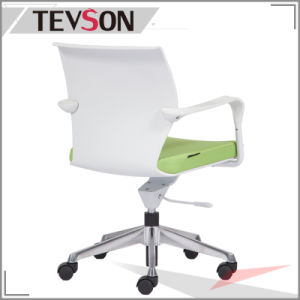 Wholesale Office Furniture Plastic Office Swivel Arm Chair with Aluminum Base pictures & photos