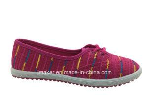 Comfortable Woman Canvas Sneaker (J2613-L) pictures & photos