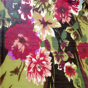 Colorful Flower Design Printed Silk Ggt pictures & photos