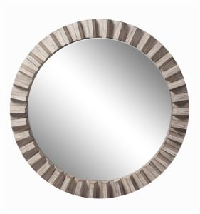 Round Vintage Wooden Decorative Mirror Wall Art Mirror Glass pictures & photos