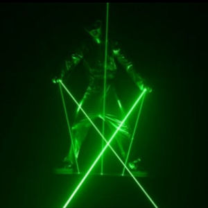 Professional 8W laserman show system Green stage laser man lighting dancing laser pictures & photos