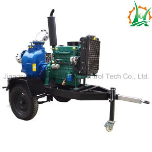 Self Priming Diesel Engine Sewage Trailer Pump pictures & photos