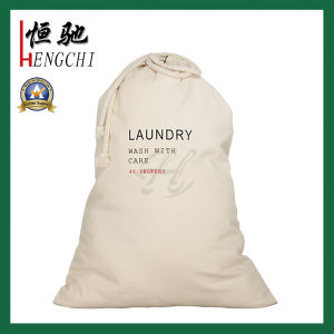 High Quality Custom Printed Cotton Canvas Drawstring Laundry Bag pictures & photos