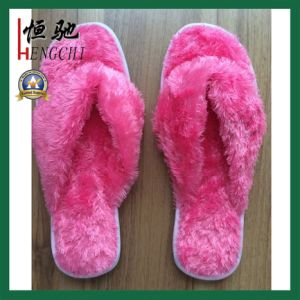Factory Making EVA Sole Disposable Hotel Indoor Slipper pictures & photos