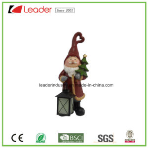 Hand-Painted Resin Girl Figurine with Lantern for Home and Christmas Decoration pictures & photos