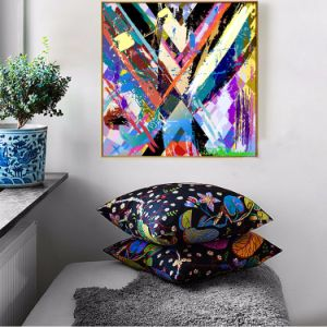 2017 New Design Colorful Modern Abstract Canvas Print pictures & photos