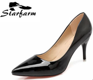 Black Color Pointed High Heels for Female