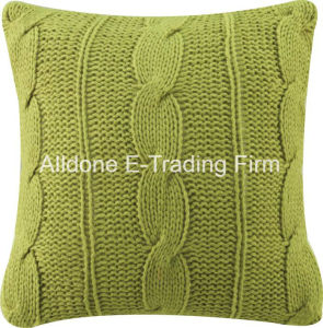 Knit Decorative Cushion Pillow Cover with Solid Color pictures & photos
