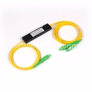 1310/1550nm Fibra Optic Sc APC 1*2 ABS Box PLC Splitter pictures & photos