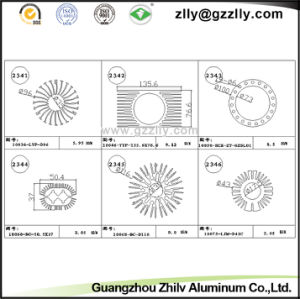 Best Quality Casting Anodized Aluminum Profile Heatsink for Building Material pictures & photos