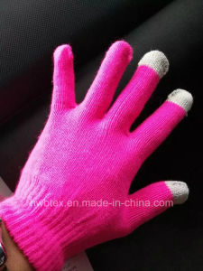 Promotion Custom Fashion Unisex Acrylic Smartphone Gloves/Texting Touch Gloves (HWBG01) pictures & photos
