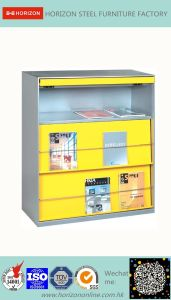 Steel Storage Office Furniture with 2 Layers Magazine Cabinet/File Cabinet pictures & photos