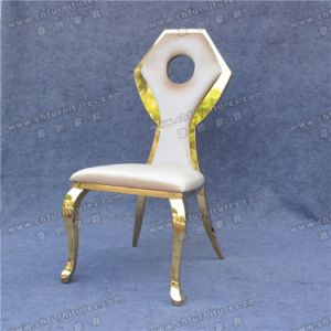Hot Selling and Modern Gold Stainless Steel Chair for Wedding (YC-ZS13) pictures & photos