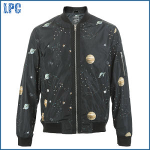 Black Star Zipper Windcheater Fashion Design of Jacket pictures & photos