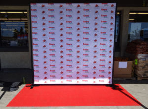 Custom Business Party Red Carpet Backdrop Banner Backdrop Stand Display pictures & photos
