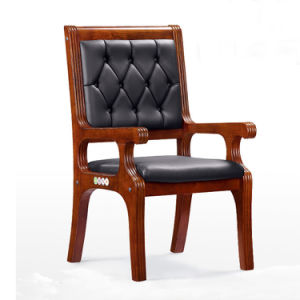 Classic Design Leather Wooden Court Discussion Conference Chair (NS-CF025) pictures & photos