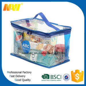 Cheap Price Customized Clear PVC Promotional Cosmetic Bag pictures & photos