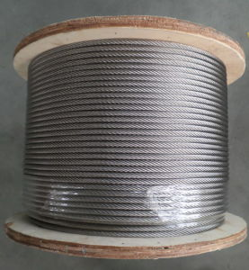 Elec. Gal. 6X19 7/32 Inch Size Steel Wire Rope pictures & photos