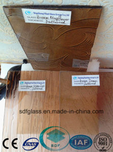 Bronze Patterned Glass with CE, ISO (3-8mm) pictures & photos
