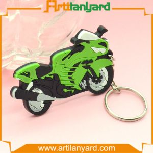 Hot Sale Fashion 3D Motorcycle PVC Keychain pictures & photos