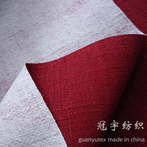 Synthetic Polyester Oxford Linen Fabric with Knitted Backing pictures & photos