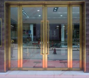 Professional Manufacturer of Golden Stainless Steel Door (BHS-DC07) pictures & photos