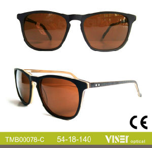 High Quality Polarized Acetate Sunglasses (78-A) pictures & photos