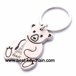 Colombia Souvenir Bear Shape Metal Bulldog Keychain (BK52764) pictures & photos