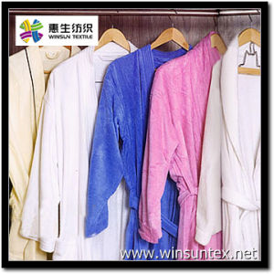 Microfiber Bathrobe Fabric (HSMR001-2DR)